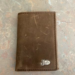 Justin boots wallet